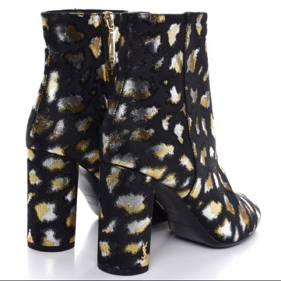 fa5331ce8fbd Saint Laurent Shoes | Loulou Metallic Leopard Boots | Poshmark